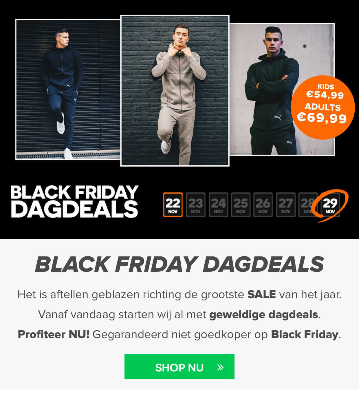 BLACK Friday voetbalshop