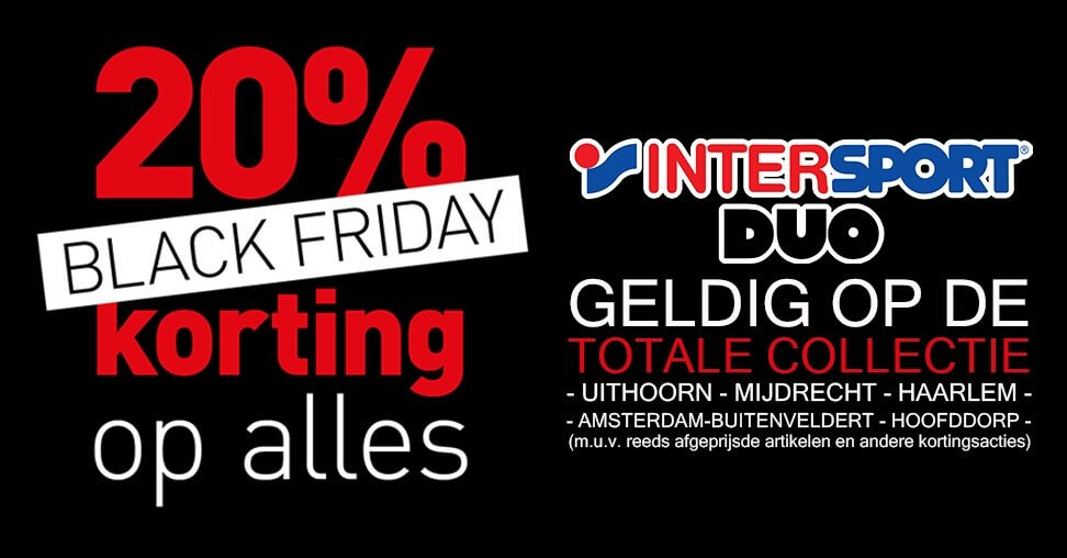 intersport black friday kortingscode 2018
